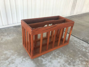 Vintage Teak Magazine Rack Mid Century Danish Modern Goodwood