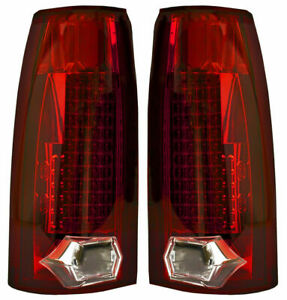 New Red Led Tail Lights For 88 98 Chevrolet Gmc Cadillac Gm2801104 Gm2800104