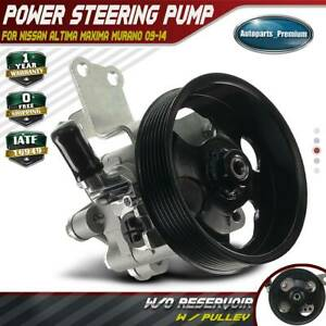 Power Steering Pump With Pulley For Nissan Altima 07 12 Maxima Murano 09 14 3 5l