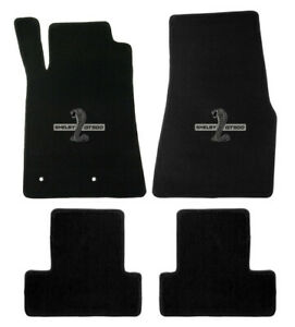 New 2005 2010 Ford Mustang Black Floor Mats Shelby Gt500 Logo Set Of 4 Carpet