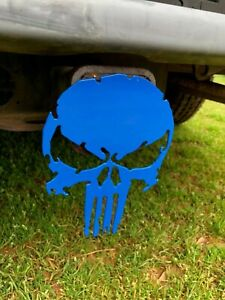 Punisher Skull Hitch Cover 14 Gage Steel Tow Towing Custom