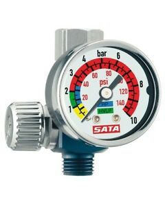 Sata 27771 Hvlp Rp Air Micrometer W Gauge 0 145 Psi Spray Gun Regulator