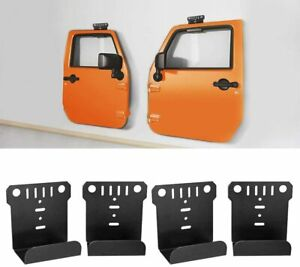 2 Pair Front Rear Door Hanger Wall Mounts For Jeep Wrangler Cj Yj Tj Lj Jk Jl