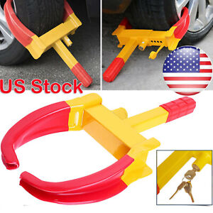 Wheel Lock Clamp Boot Tire Claw Auto Car Truck Rv Trailer Anti Theft Towing 2019