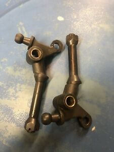 Ford Model A Front Spring Perch Pair With Castle Nuts 1928 31 Made In Usa