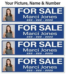 Real Estate Riders For Sale Picture Name Number 9pk Cor Plastic Free Ship