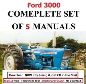 5 Ford 3000 Service Manual Tractors Service Parts Owners Manual 1965 1975 Cd