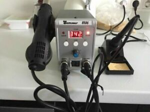 Solder Station 8586 2 In1 Electric Soldering Irons Hot Air Gun 750 W Smd Rework