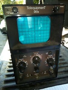 20ee00 Telequipment D61a Oscilloscope 18 X 12 X 6 Overall Sold As Is