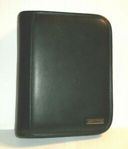 Franklin Covey Black Leather 6 5 X 8 5 Notebook Organizer Day Planner 6 ring