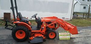 2012 Kubota B2620 Compact Loader Tractor W mower Only 393 Hours Nice Tractor