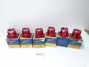1961 Pontiac Star Chief Stop Tail Light Taillight Lamp Lens Set 61 Guide Nos Oem