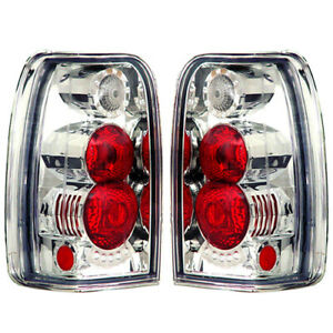 New Chrome Tail Light Set For 1996 2002 Toyota 4runner To2800123 To2800137