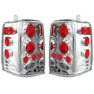 New Chrome Tail Light Set For 1993 1998 Jeep Grand Cherokee Ch2800121 Ch2801121