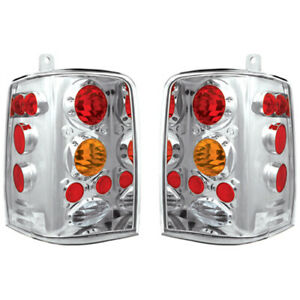 New Chrome Amber Tail Lights For 93 98 Jeep Grand Cherokee Ch2800121 Ch2801121
