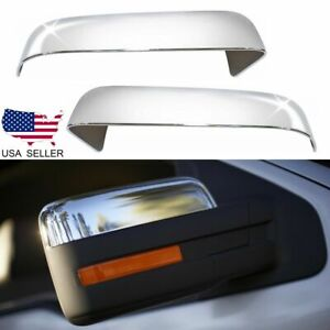 For 2009 2010 2011 2012 2013 2014 Ford F150 Upper Chrome Mirror Cover F 150 Pair
