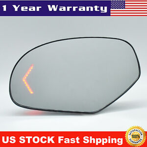 Mirror Glass Heated Turn Signal Arrow Driver Side Left Lh For Chevy Gmc Yukon