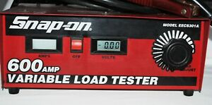 Snap On 600 Amp Variable Load Tester Model Eecs301a Nice Shape