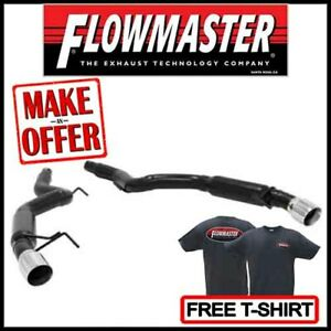 Flowmaster Outlaw Axle back 3 Exhaust Kit Fits 2015 2017 Ford Mustang Gt 5 0l