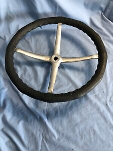 Vintage Bakelite Steering Wheel Hot Rat Rod Wooden Wood Boat Studebaker Nash