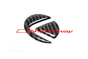 For Lexus Steering Wheel Emblem Logo Carbon Fiber Insert Sticker Decal Large