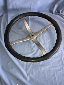 Vintage Bakelite Steering Wheel Hot Rat Rod Wooden Wood Boat Antique Chevy