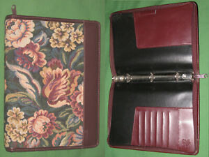 Classic 0 75 Floral Tapestry Faux Leather Day Timer Planner Franklin Covey