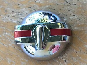 Vintage Chrome And Red Locking Gas Cap For Vintage Car