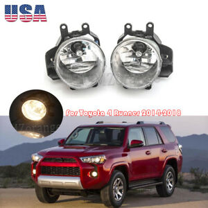 Fog Light For Toyota 4 Runner 14 18 Prius C 12 14 Rx450h 14 2015 With Bulbs Pair