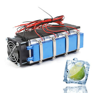 576w Diy Thermoelectric Cooler Radiator Air Cooling Fan Device 8 chip Tec1 12706