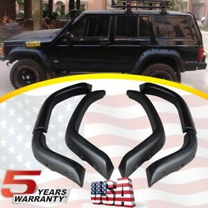 Pocket Rivet Style Wide Fender Flares For 84 96 Jeep Cherokee Xj 4dr Cover Trim