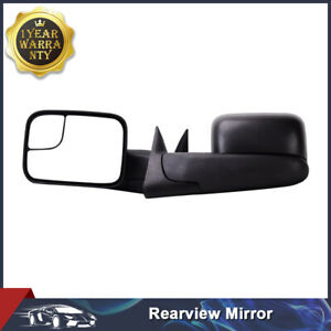 Manual Tow Side Mirrors Flip Up Fits 94 01 Dodge Ram 1500 94 02 2500 3500 Pickup