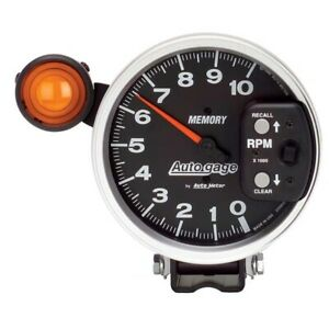 Autometer Gauge 233906 5 Tach 10 000 Rpm Shift lite Memory Ag