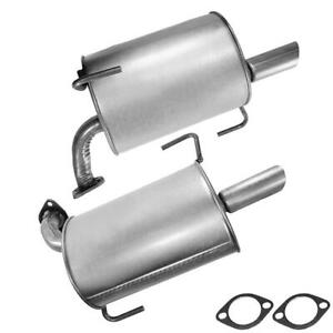 Pair Of Left And Right Exhaust Mufflers Fits 2005 2009 Subaru Legacy 2 5l