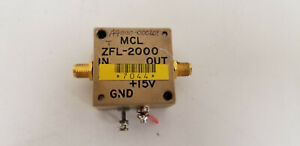 Mini circuits Zfl 2000 Rf Amplifier