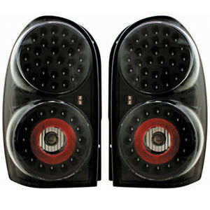 New Black Led Tail Light Set For 02 07 Jeep Liberty Ch2800149 Ch2800158
