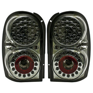 New Smoked Led Tail Light Set For 02 07 Jeep Liberty Ch2800149 Ch2800158
