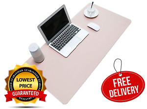 Pu Leather Mouse Pad Mat Waterproof Perfect Desk Writing For Office Home Pink