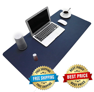 Pu Leather Mouse Pad Mat Waterproof Perfect Desk Writing Office Home Sapphire