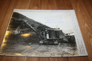 Rare 1923 Marion Power Shovel Model 21 Original Photo From Advertising Dept Ohio