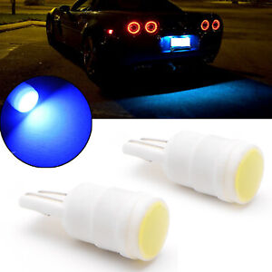 2x T10 168 175 8000k Ice Blue Led Ceramic Shell Wedge License Plate Light Bulbs
