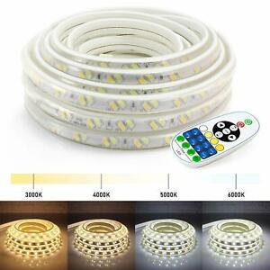 25 50 100ft Led Strip Lights Warm Cool White Indoor Outdoor Accent W Remote