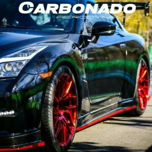 2008 2016 Gtr R35 Nsmo Style Carbon Fiber Side Skirts Body Kit Cba dba