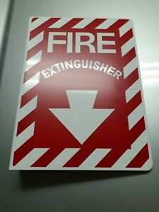 Fire Extinguisher Arrow Metal Sign Industrial Flanged Doublesided 10pc Lot