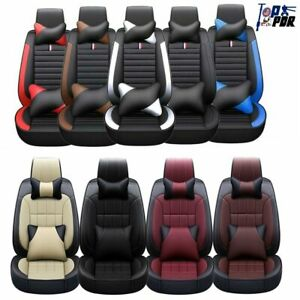 Car Seat Covers For Car Pu Leather 5 seats Sedan Sit Auto Front rear Cushion Set