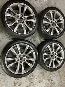 19 Hyper Silver Wheels For Mazda 6 Oem Quality 64958c With Continental Tires