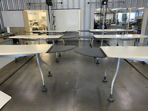 1 Herman Miller Kiva wings Table Desk With Swing Out Extensions Sides
