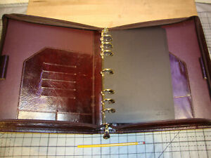 Franklin Covey Full Grain Leather Full Size Brown Zip Binder Usa Made 7ring