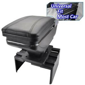 Armrest Center Center Console Lid Kits Organizer Storage Seat Box Black Us Tray