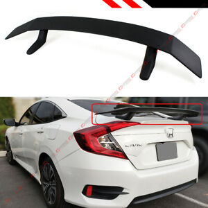 For 2016 2020 Honda Civic 10th Gen Sedan Coupe Si Style Rear Trunk Spoiler Wing